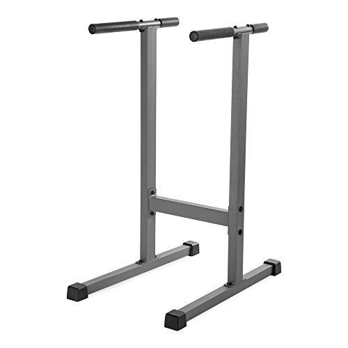 XMark Dip Station 500 lb. Weight Capacity Uniquely Engineered Angled Uprights Accommodate Men and Women XM-4443
