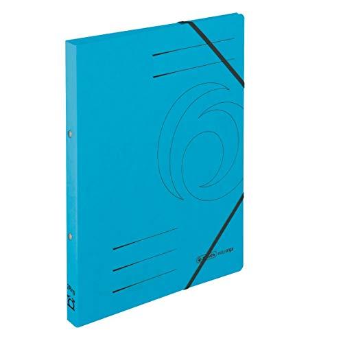 Herlitz 50024858 Ringhefter A4, 2 Ring-Mechanik, Rückenbreite 25 mm, Füllhöhe 14 mm, Colorspan, 5 Stück, hellblau