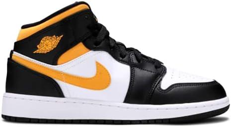 Air Jordan 1 Mid GS Black University Gold (554725 177) Size 6.5Y, 8W