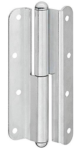 Gedotec Schroefband metaal zwaar belastbaar scharnier QF 1 voor schuine kamerdeuren | aanslag: DIN links | deurband met draagkracht tot 60 kg | Made in Germany | 1 stuk - deurscharnier voor houten binnendeuren modern Anschlag: DIN Rechts