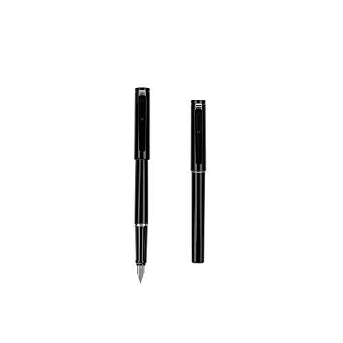XYHCS Pluma, EF Tip 0.3mm ~ 0,45 mm de Grueso Escritura de la Pluma, como Regalo Oficina Firma Pluma de Visita, se Puede Utilizar (Negro/Blanco) (Color : Black)