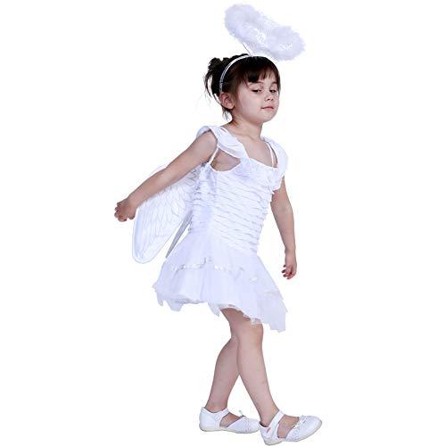 WWSSJD Disfraz de Angel para Niños Víspera de Todos los Santos Navidad Show de Niños Cosplay,L