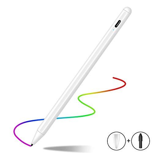 Stylus Stift 2. Generation mit Palm Rejection für Apple iPad 2018-2020, Feine Spitze, Hochpräziser Bleistift zum Zeichnen und Schreiben auf iPad 7./6./Air 3./Mini 5./ Pro 11(1./2.)/12.9(3./4.)