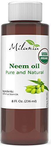 Premium Organic Neem Oil (8 Oz.) Virgin, Cold Pressed, Unrefined 100% Pure Natural Grade A. Excellent Quality.