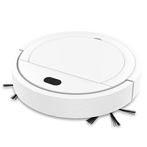 Aspirapolvere robot, giocattolo aspirapolvere USB intelligente, robot multifunzione ricaricabile, più adatto per peli di animali domestici, tappeti, ecc. (Bianco puro)