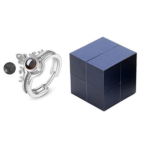 Joyero creativo con anillo y rompecabezas, caja de anillo con cubo mágico, caja de regalo giratoria para el día de San Valentín, dos formas de abrir