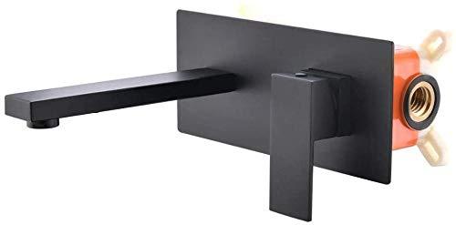 grifo del lavabo con grifos monomando de inodoro ocultos de latón de un solo orificio con caja empotrada de agua fría y caliente
