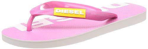 Diesel Damen SA-BRIIAN W-Sandals Flipflop, Rosa Nelke/Freesie Gelb/Stern Weiß, 42 EU