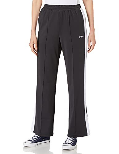 Fila WOMEN track pants Pantalones de entrenamiento para mujer Alkas, negro y blanco brillante, XS