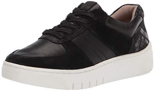 Naturalizer Women's Hadley Sneaker, Black Leather, 11