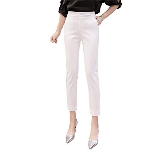 Pantalones de Trabajo de Oficina Ajustados para Mujer, Cintura Alta, Control de Abdomen, Color sólido, elástico, Pantalones de Moda Informal S