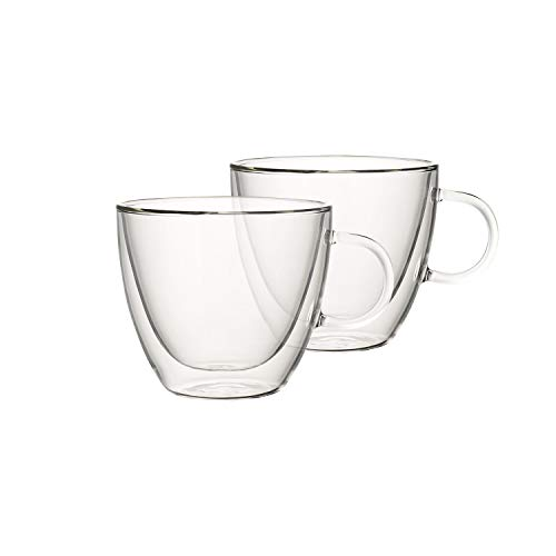 Villeroy & Boch Artesano Hot & Cold Beverages Tasse L, 2er-Set, 420 ml, Borosilikatglas, Klar