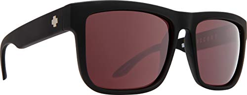 Spy Optic Discord Polarized Flat Sunglasses (Black - Happy Rose Polar w/Light Silver Spectra Mirror)