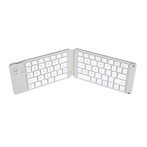 foshan Cgration - Mini teclado inalámbrico con Bluetooth plegable para tablet y teléfono móvil, universal, teclados portátiles, para viajes, casa, oficina, magnético, plegable
