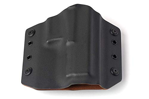 Gears and Barrels - SIG P320 Compact/Carry Leather Interior OWB Kydex Holster , Adjustable Right Hand Draw OWB Belt Holster, Outside Carry Holster.