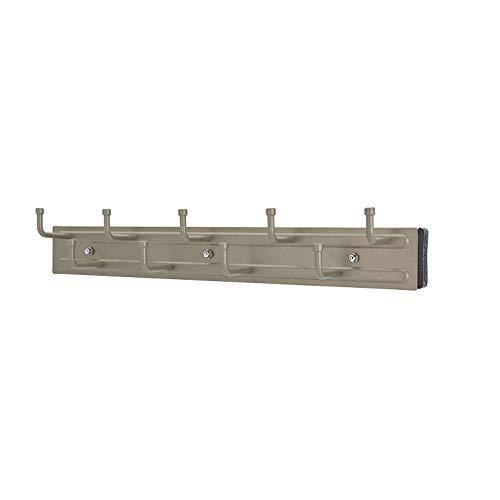 Rev-A-Shelf BRC-14SN 14-Inch Wall Mounted Pullout Closet Belt Organization Rack Holder Hanger, Satin Nickel