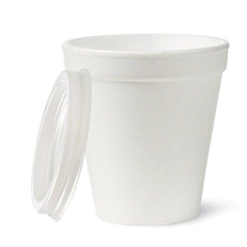PZ 100 BICCHIERE TERMICO CC 200 IN POLISTIROLO + COPERCHIO PER CAFFE' CAPPUCCINO CIOCCOLATA VIN BRULE' COFFEE CUP