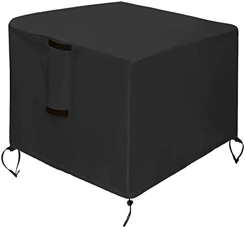 DANYIN Fogón Cubierta Plaza Cubiertas for Muebles Patio 420D Forro Protector de Tela con Revestimiento de PU Negro 95X95X55CM (Size : 105x105x55cm)