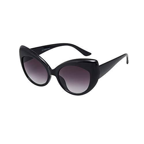 ASVP Shop, occhiali da sole da donna, B3, a forma di gatto, stile vintage, trendy Black Large M