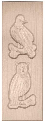 HOFMEISTER® Spekulatius-Model 2 Vögel, 17x6cm, Ahorn