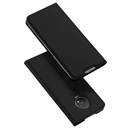 DUX DUCIS Hülle für Nokia 6.2 / Nokia 7.2, Leder Flip Handyhülle Schutzhülle Tasche Hülle mit [Kartenfach] [Standfunktion] [Magnetverschluss] für Nokia 6.2 / Nokia 7.2 (Schwarz)