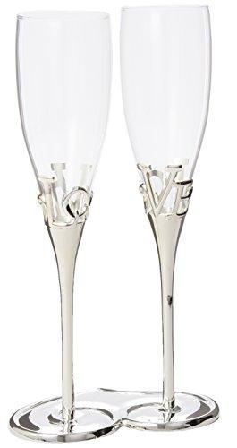 Weddingstar 8544 Love Stem Champagne - Soporte para copas y copas de champán