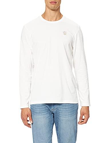 Tom Tailor 1027416 Camiseta, 10332 Off White, L para Hombre