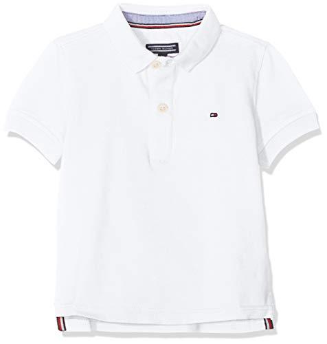 Tommy Hilfiger Boys Tommy Polo S/s, Blanco (Bright White 123), 152 (Talla del Fabricante: 12) para Niños