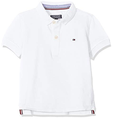 Tommy Hilfiger Boys Tommy Polo S/s, Blanco (Bright White 123