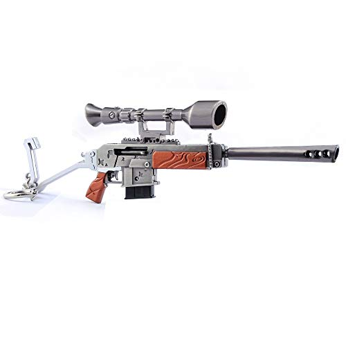 Longhe Games 1/6 Metal Semi-Auto Sniper Rifle Gun Model Action Figure Arts Toys Collection Keychain Gift