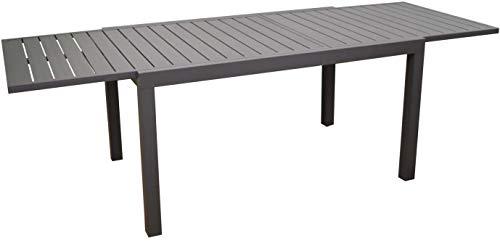 Proloisirs Table extérieure en Aluminium Plateau à Lattes Alice 140 à 240 cm