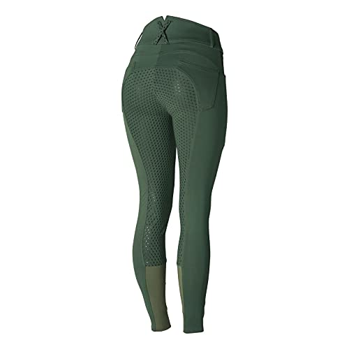 Product Image 2: HORZE Limited Edition Womens Eva Full Seat High Waist Breeches – Cilantro Green – 32