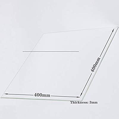 400mm x 400mm x 3mm Borosilicate Glass Build Plate For 3D Printers, Perfectly Flat Glass With Polished Edges