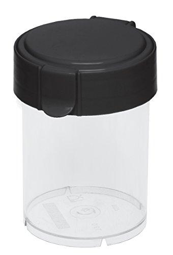 Plast Team 18500800 clic-boîte Vide Mary, 0,6 l, Boite Ronde, Couvercle Transparent Noir