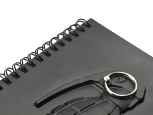 Cosmos 3D Grenade Notebook with Key Ring holder with Cosmos Fastening Strap Photo #2