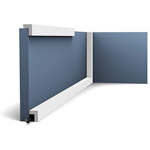 Perfil de estuco Moldura Cornisa Orac Decor PX164 AXXENT Elemento decorativo para pared y techo 2 m