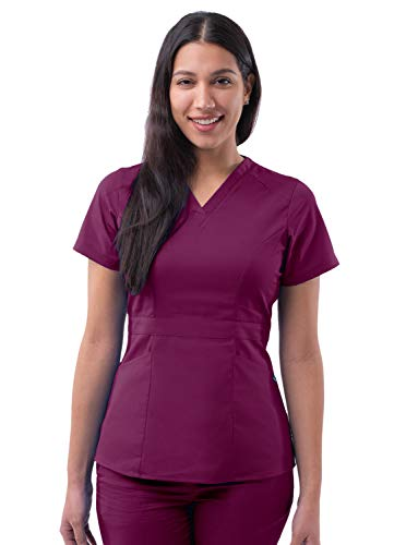Adar Pro Prendas médicas para Mujer Casaca Sanitaria a Medida - P7004 - Wine - 3X