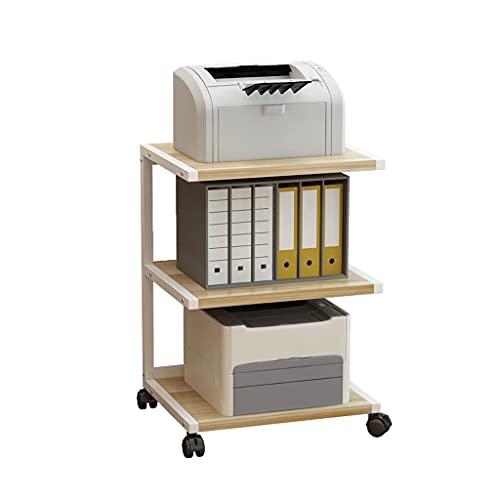 Soportes para impresoras Impresora de 3 capas Stand Movable Impresora Escritorio Metal Marco Estante de impresora, Máquina de fax Esquema de escáner Se utiliza en la sala de estar Soporte para impreso