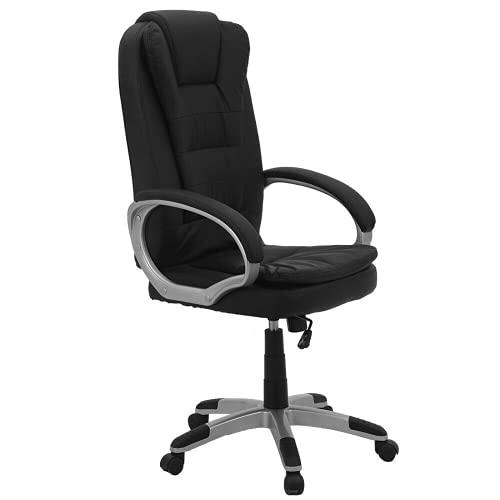 Trintion Bürostuhl Ergonomischer Schreibtischstuhl Schwarz Drehstuhl mit Armlehne Computerstuhl Höhenverstellbar Belastbar bis 120kg