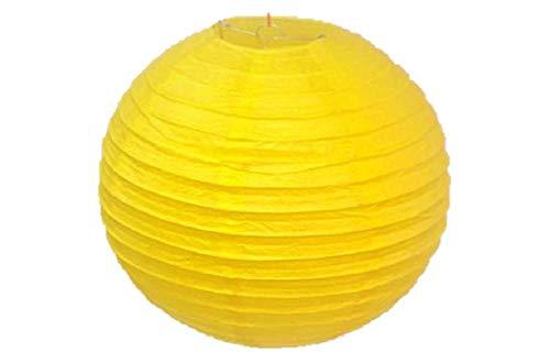 Matissa, 6Stück, 30cm (12Zoll) Lampenschirm aus Papier, für Hochzeit, Party, Dekoration (gelb)