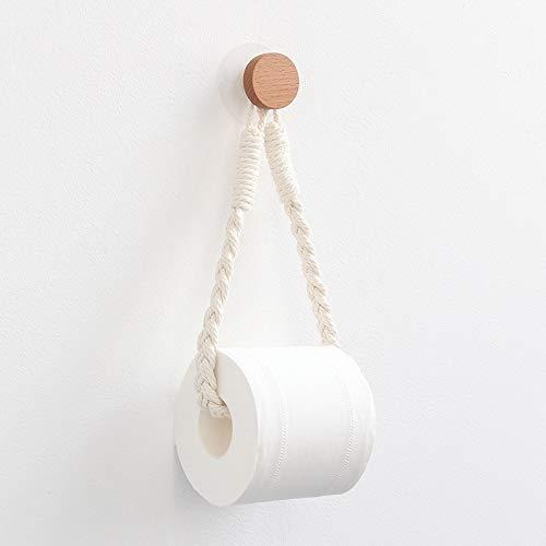 Toalla Lanyard Hogar de Papel higiénico Hogar Hotel Baño Decoración Productos (Color : White Square)