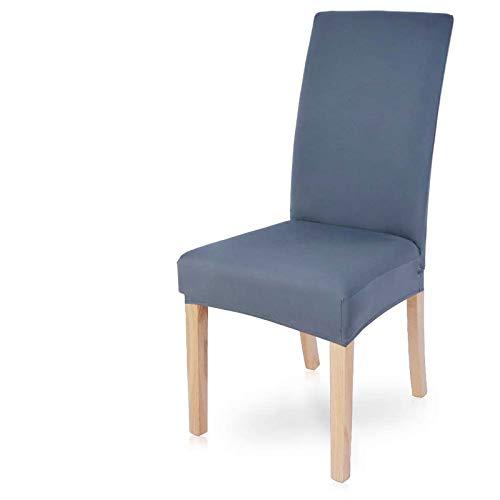 wkd-thvb Jacquard Extensible Esszimmerstuhlabdeckung Slipcover Hülle Für Stühle Küche Esszimmer Stuhlabdeckungen Elastische Stretch Type 3 Grey Blue 4pcs