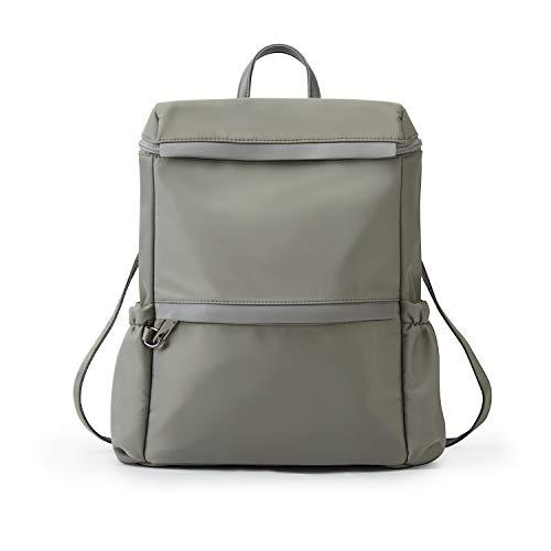 ECOSUSI Damen Rucksack Handtasche klein Tasche Umhängetasche Wasserdichte Nylon Schultasche Anti Diebstahl Daypack Schultertasche Leichtgewicht Reiserucksack, Grau