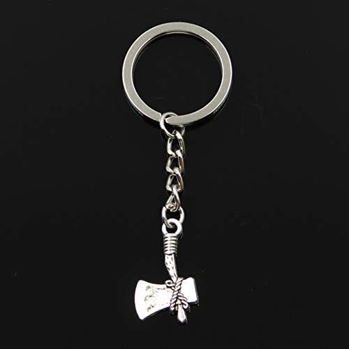 XHYKL Sleutelhanger 28x15mm steen bijl Hangers DIY Mannen Sieraden Auto Sleutelhanger Ring Houder Souvenir Voor Gift