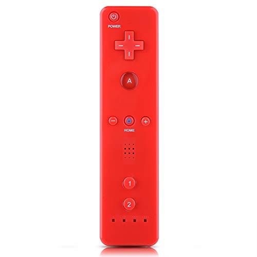 ASHATA Für WiiU/Wii Controller Gamepad, Game Handle Controller Gamepad mit analogem Joystick,Geeignet für Nintendo WiiU/Wii Original Console(Rot)