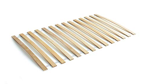 Ticaa Lattenrost Rollrost mit Federleisten Birke 80 x 160 cm
