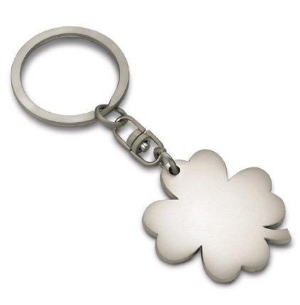 REFLECTS Schlüsselanhänger in Kleeblattform Osasco mattsilber