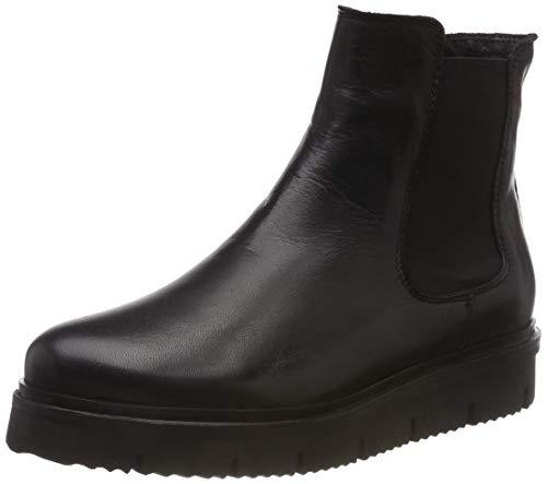Bianco Damen Cleated Chelsea Boots, Schwarz (Black 106), 38 EU