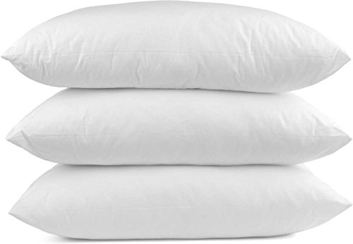 Philly Linens Multiple Sizes- (20 x 36) Set of 3 King Pillows for Sleeping- Hypoallergenic Down Alternative Toddler Pillows (3 Pack)