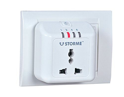 Storme Plastic Socket Automatic Power Cut-Off Timer Socket (White) - Pack of 5